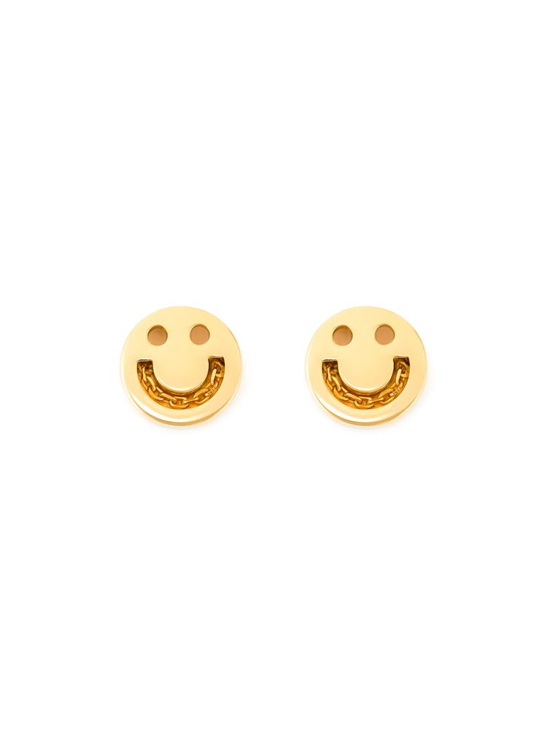 Ruifier Happy Stud Earrings in Metallics zeotaq