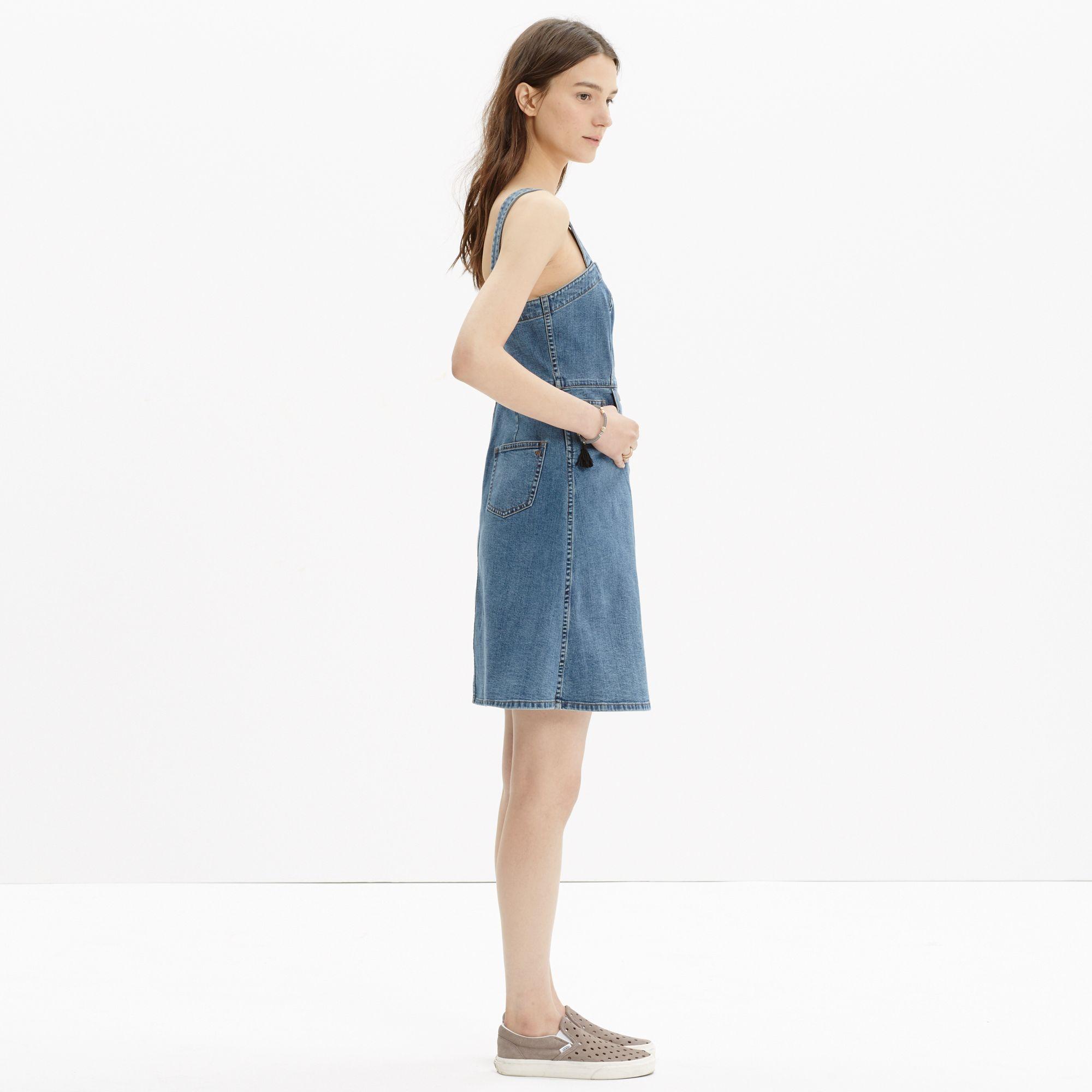 d32d87c2182 Lyst - Madewell Denim Overall Dress in Blue