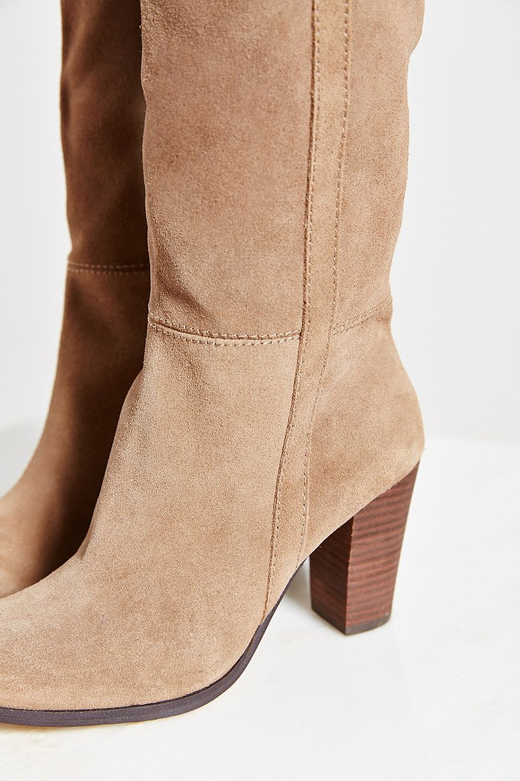 5be20b7d356f9 Lyst - Dolce Vita Myste Suede Tall Boot in Brown