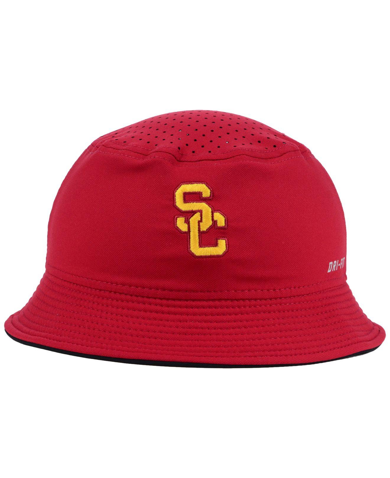 new style 5676e 51beb czech lyst nike usc trojans vapor bucket hat in red for men 482d8 ae222