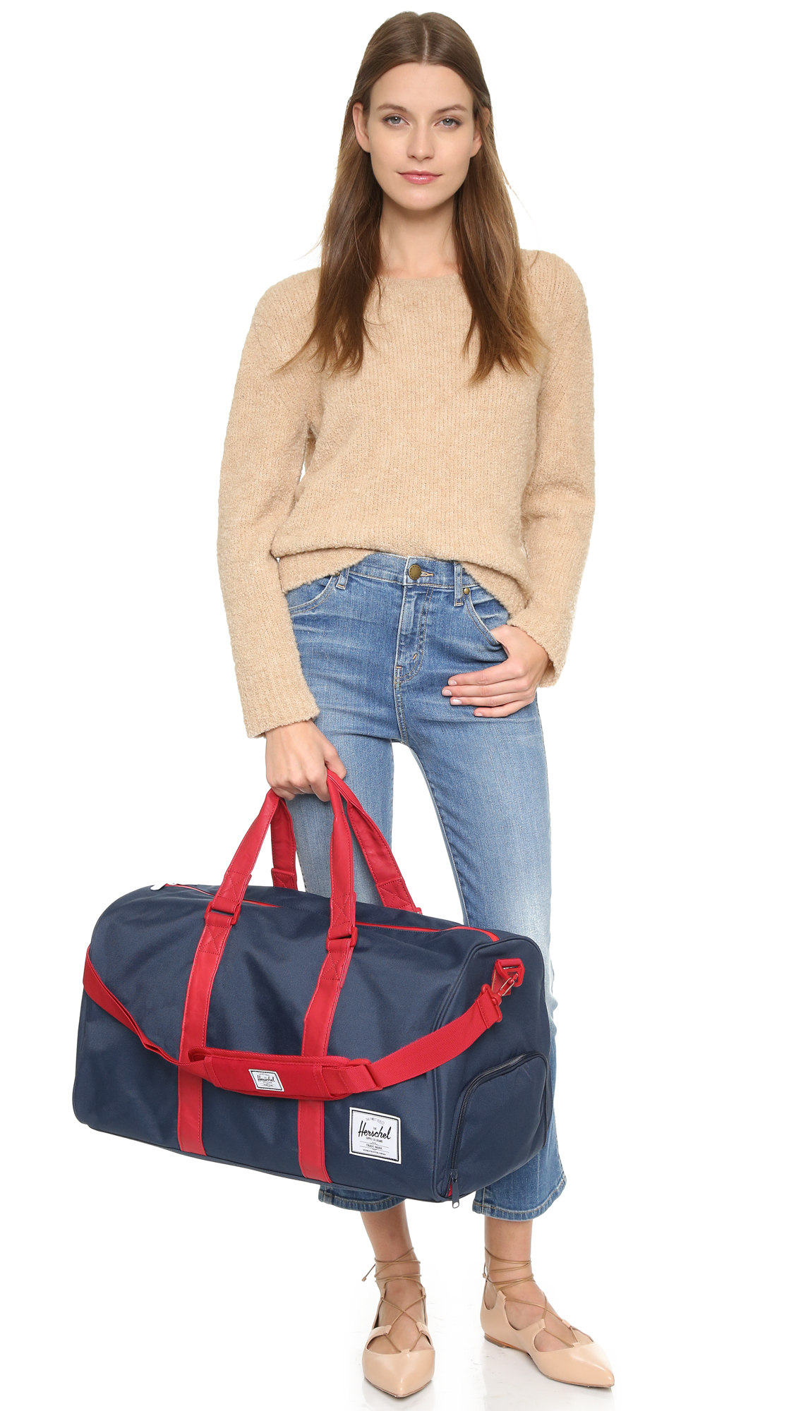 62655d9542 Lyst - Herschel Supply Co. Novel Weekender - Navy red in Blue