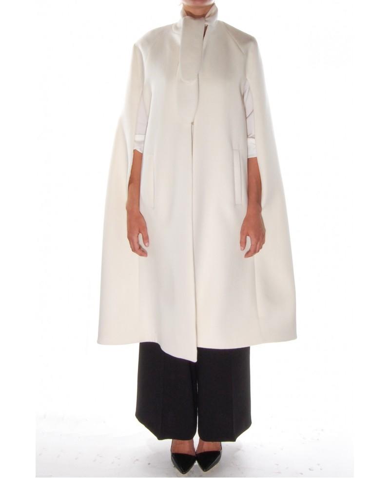 Ryan roche Cashmere Cape Coat in White | Lyst