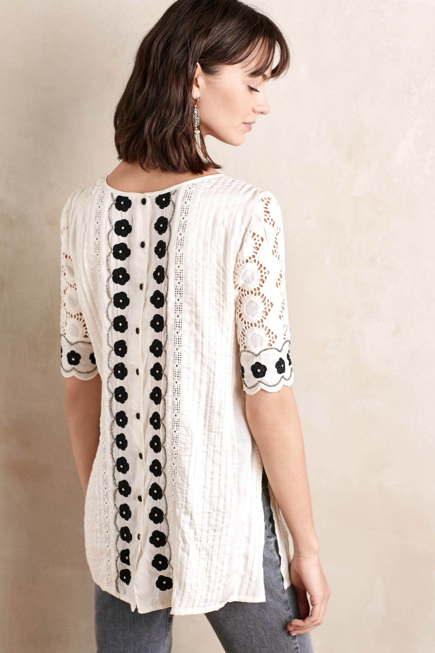 White Off The Shoulder Peasant Blouse