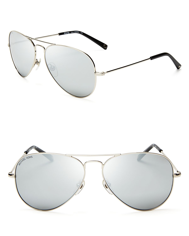 740bd45ac8 Lyst - Michael Kors Dylan Aviator Sunglasses in Metallic