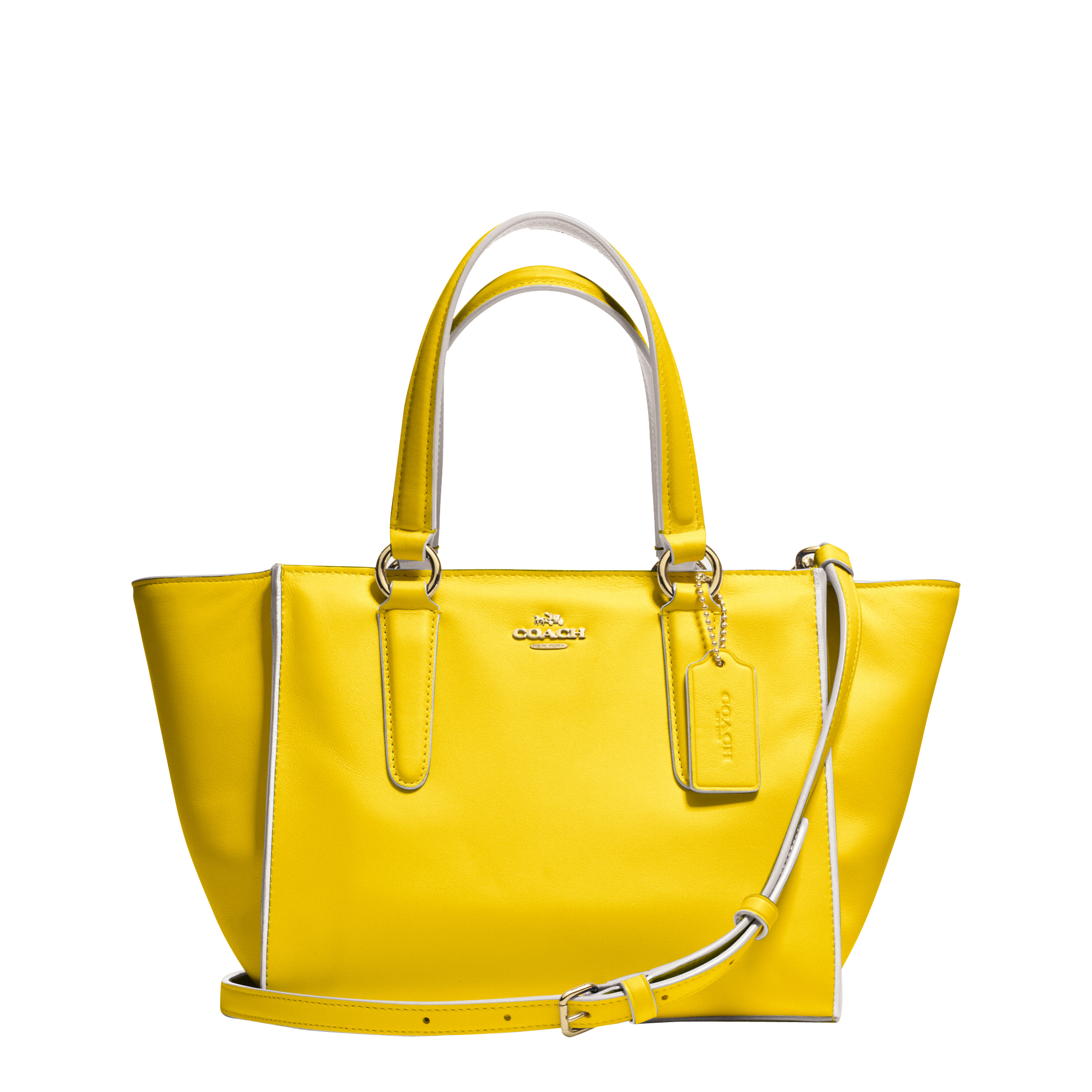 Coach Mini Crosby Carryall Colorblock Bag In Yellow Lyst