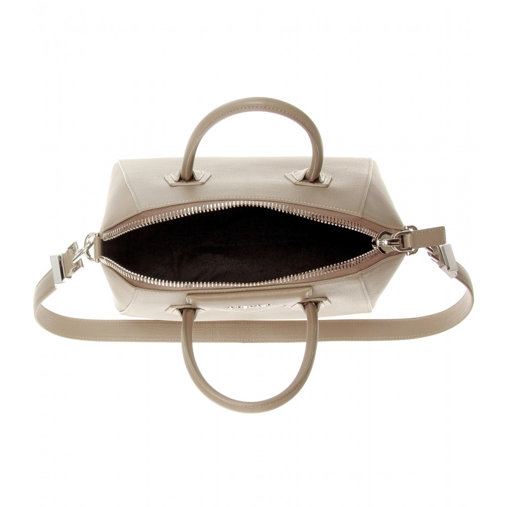 5a2357a1cf Lyst - Givenchy Antigona Small Leather Tote in Gray