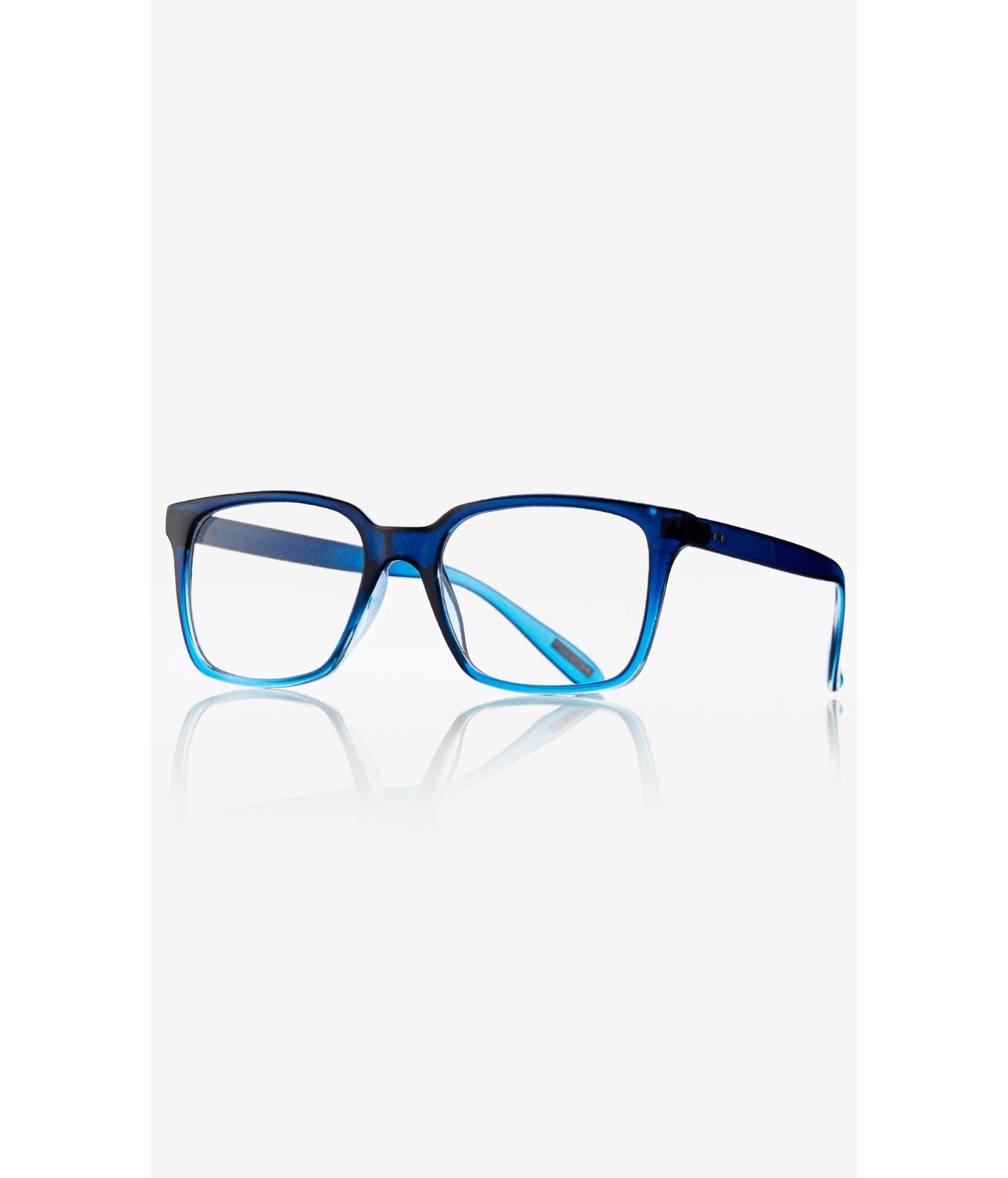 Express Blue Ombre Frame Clear Lens Glasses in Blue for ...
