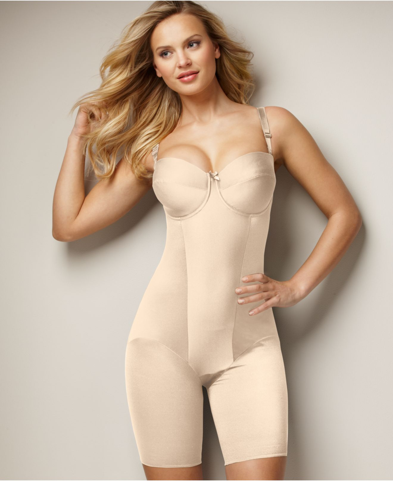 b230f85925 Lyst - Miraclesuit Extra Firm Control Strapless Thigh Slimming Body ...