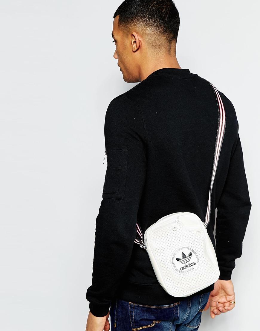 abe4c32b0c1c Lyst - adidas Originals Perforated Flight Bag in Gray for Men