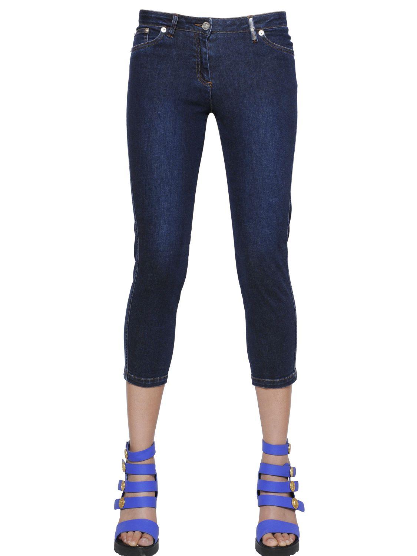 Kenzo Super Stretch Denim Capri Jeans in Blue | Lyst