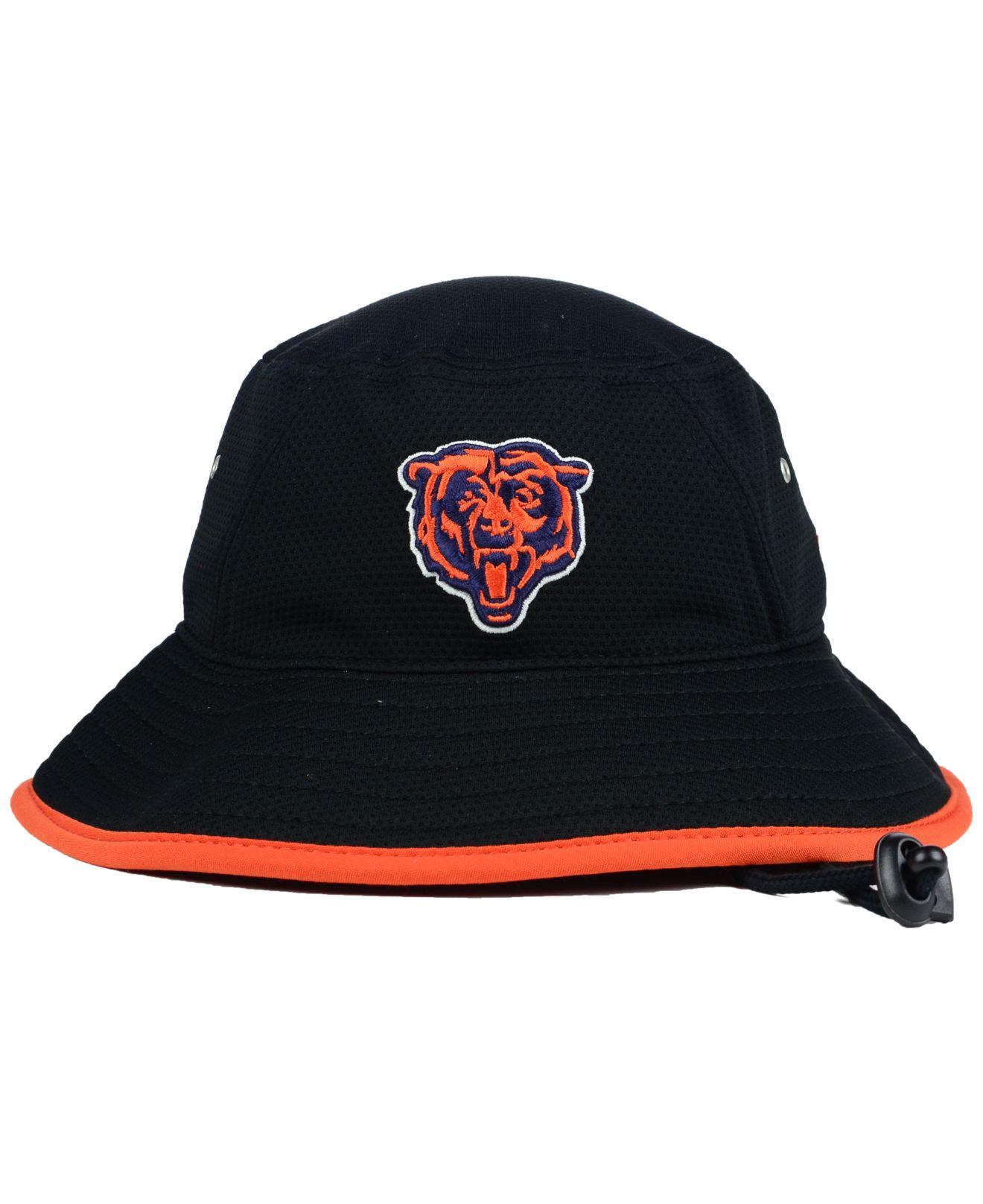 67476fcfeb8 Lyst - KTZ Chicago Bears Training Bucket Hat in Black for Men
