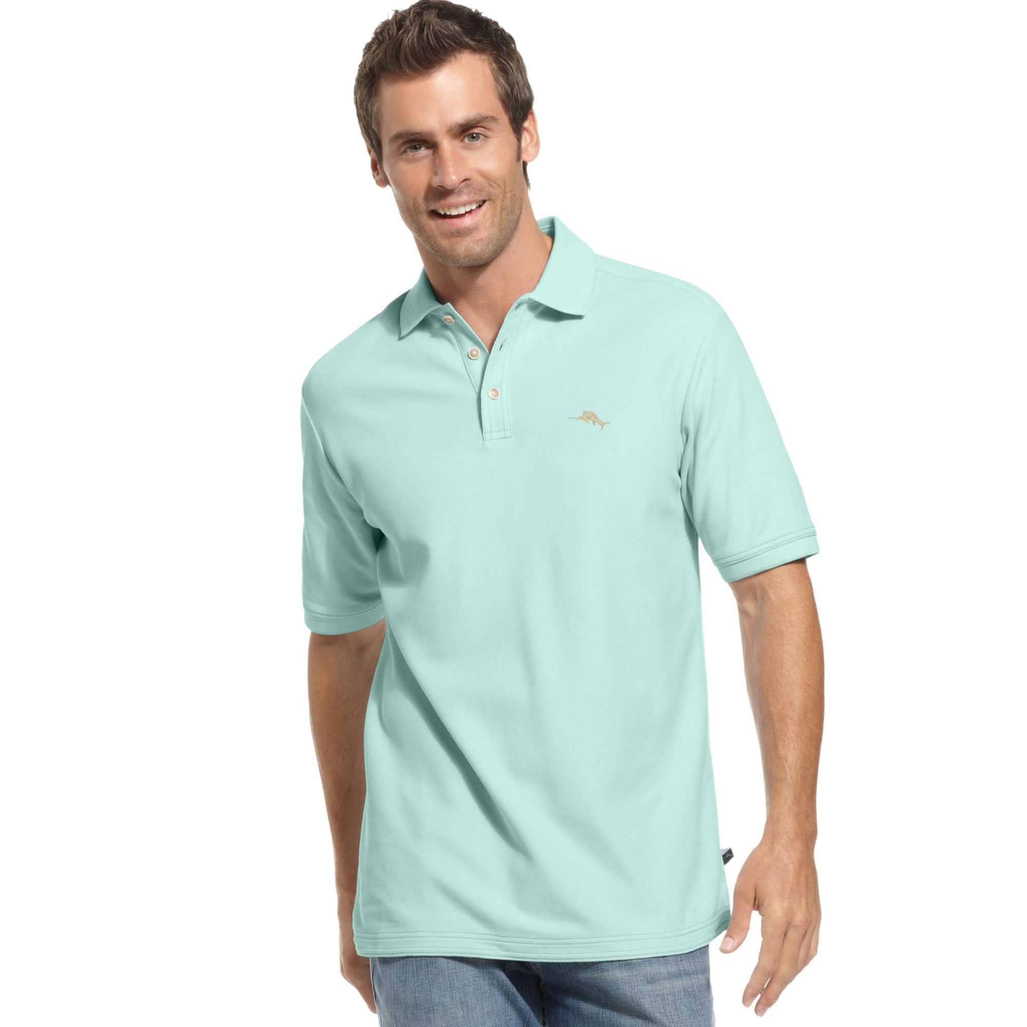 Tommy bahama emfielder polo shirt in green for men icicle for Tommy bahama christmas shirt 2014