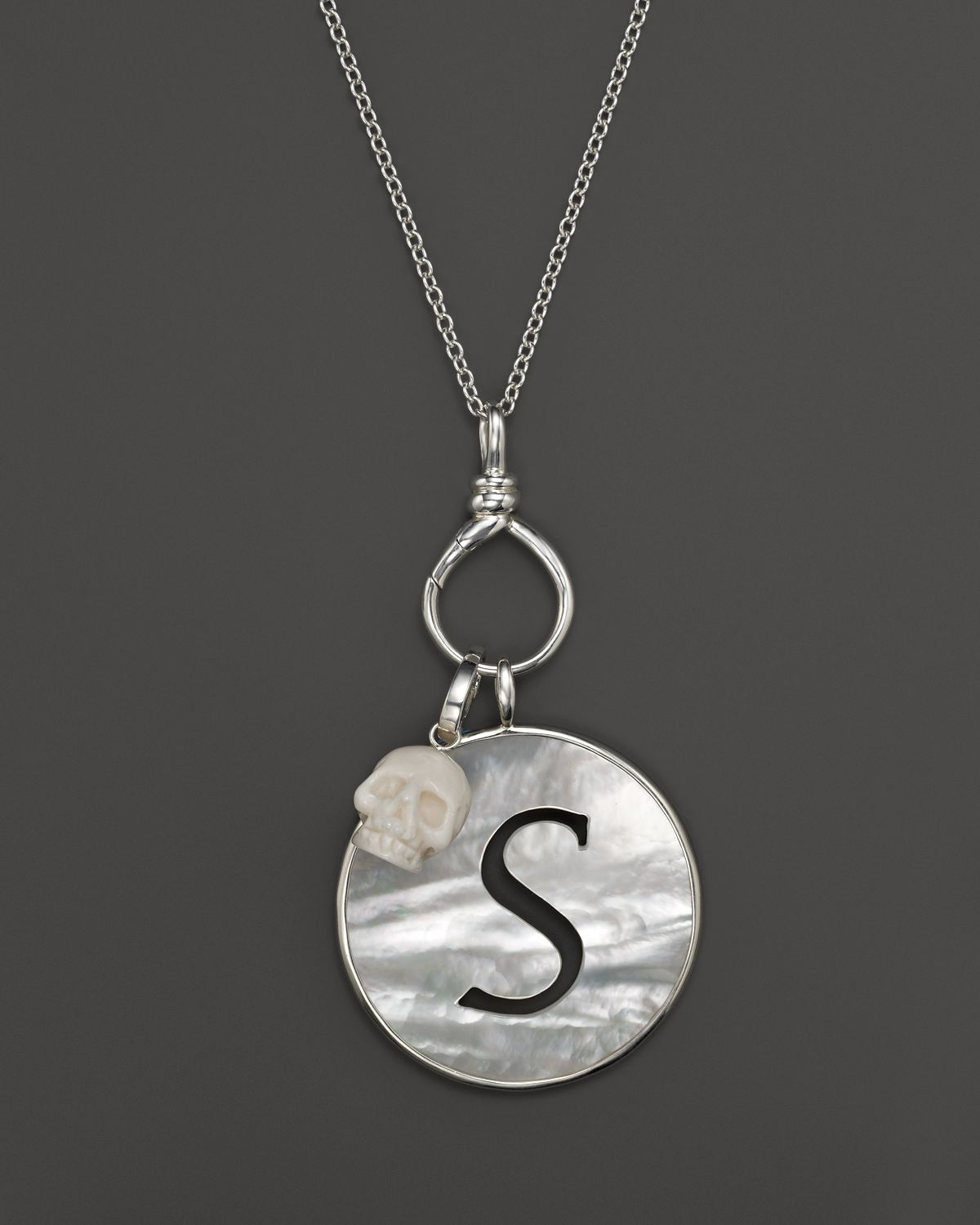 Lyst - Ippolita Sterling Silver Twisted Wire Charm Holder Necklace ...