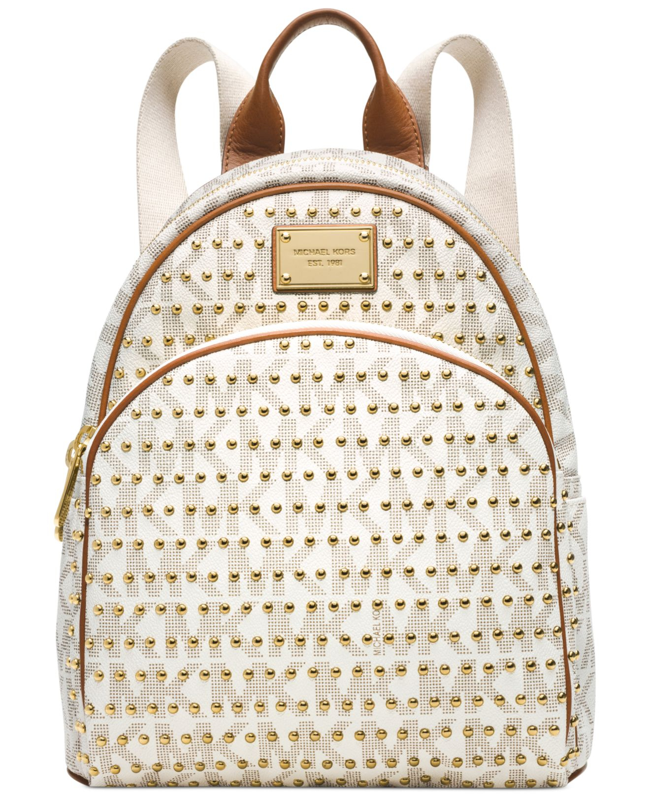 928027ed9b4d Lyst - Michael Kors Jet Set Travel Small Studded Logo Backpack in ...
