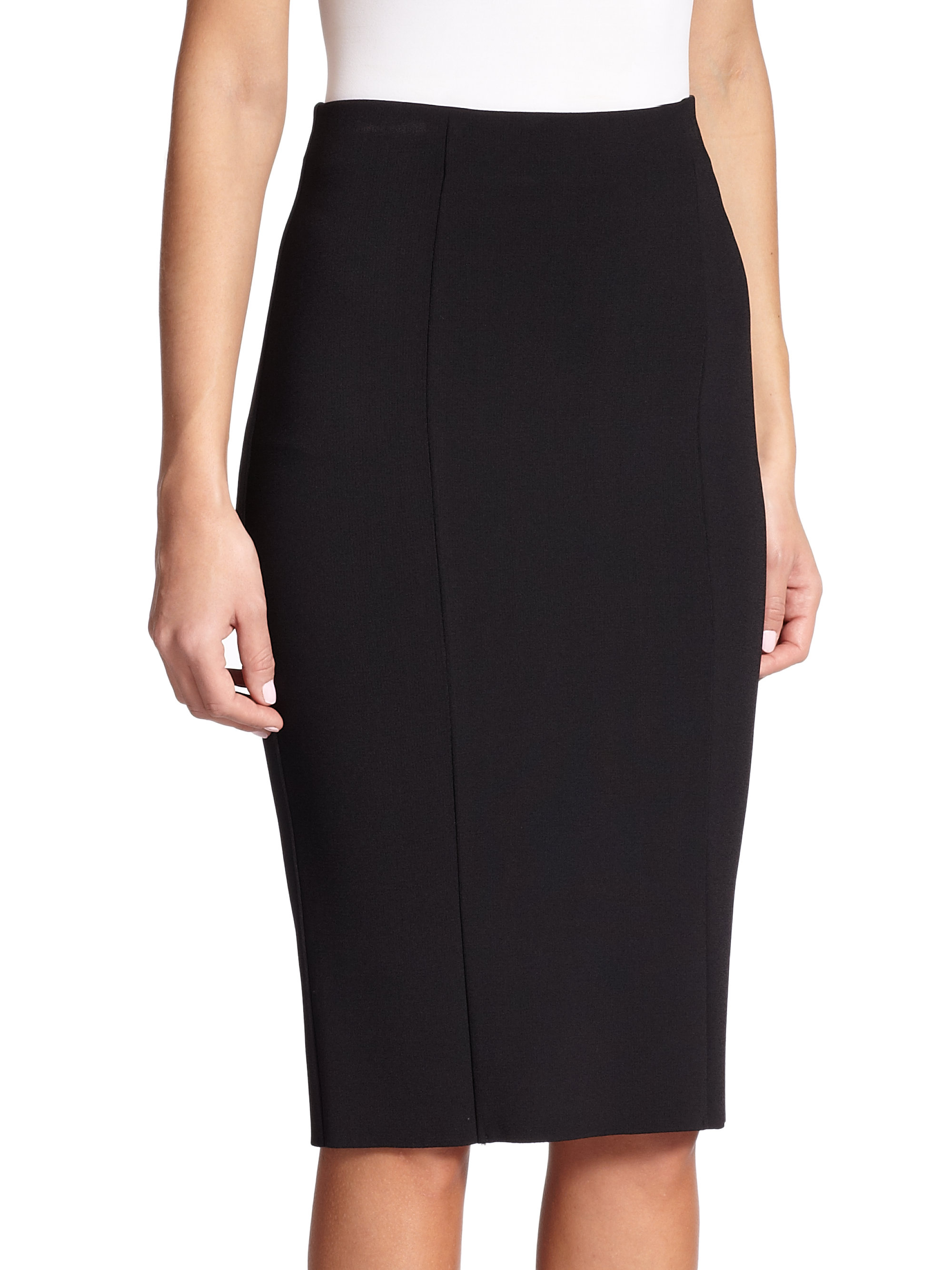 st jersey pencil skirt in black lyst