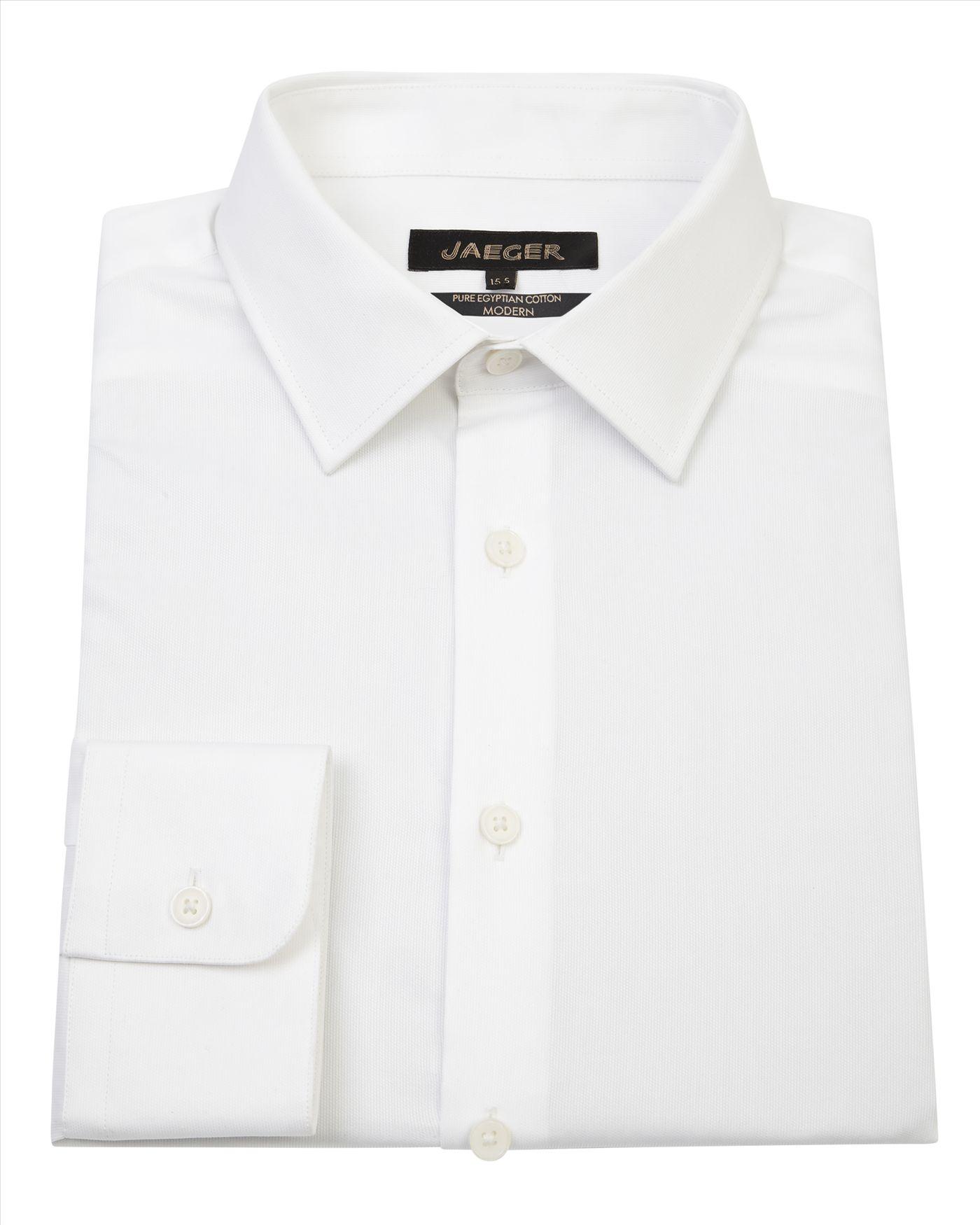 Lyst Jaeger Dobby Point Collar Shirt In White For Men