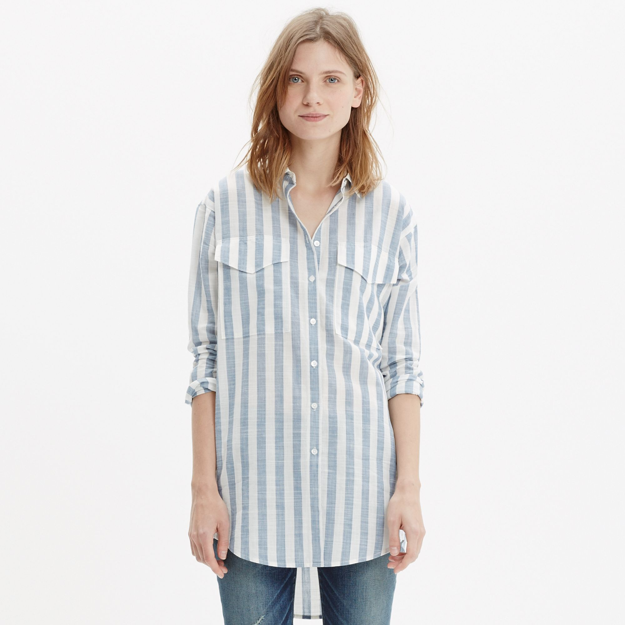 Lyst Madewell Oversized Button Down Shirt In Major