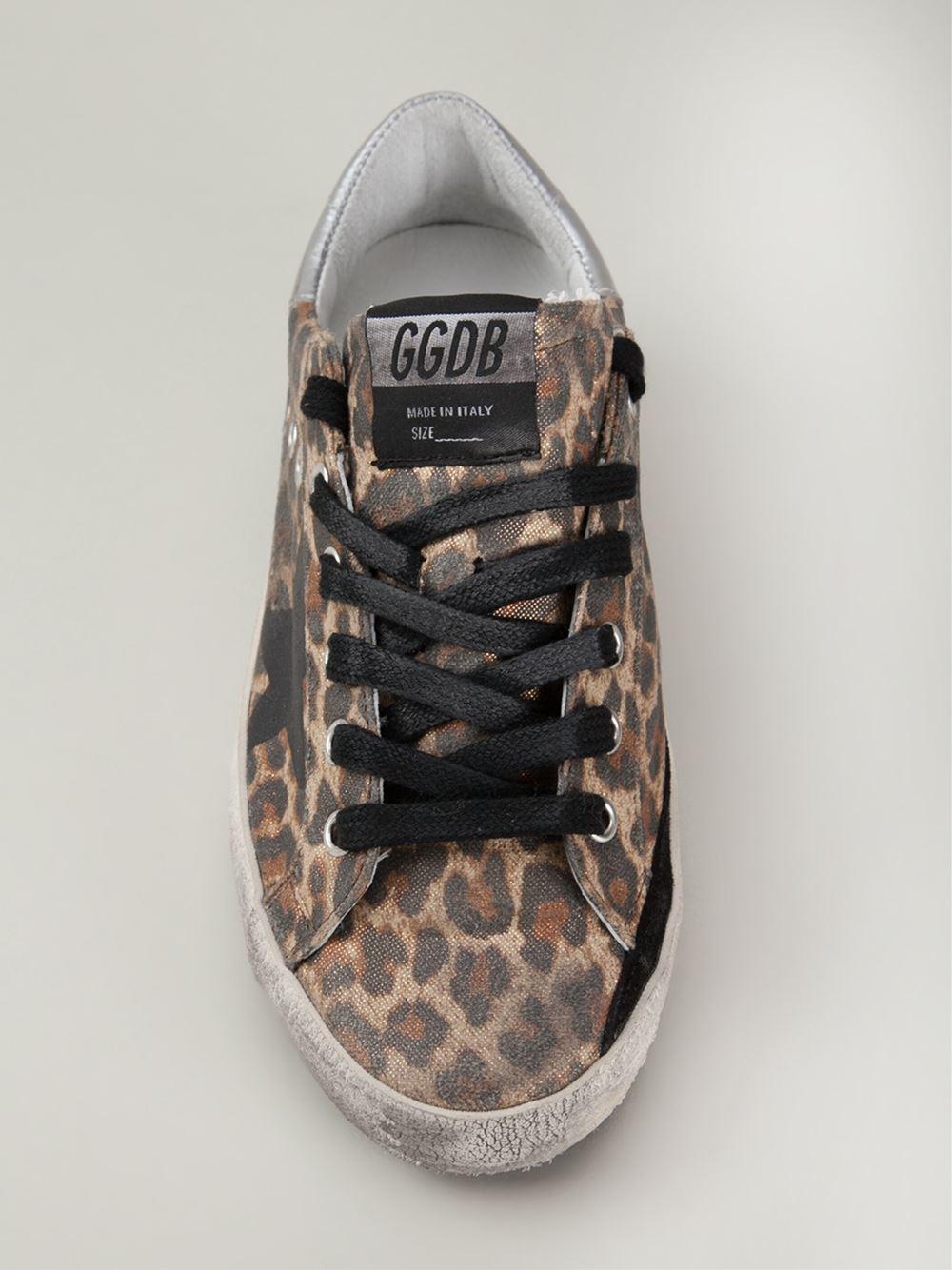Lyst Golden Goose Deluxe Brand Leopard Print Sneakers In