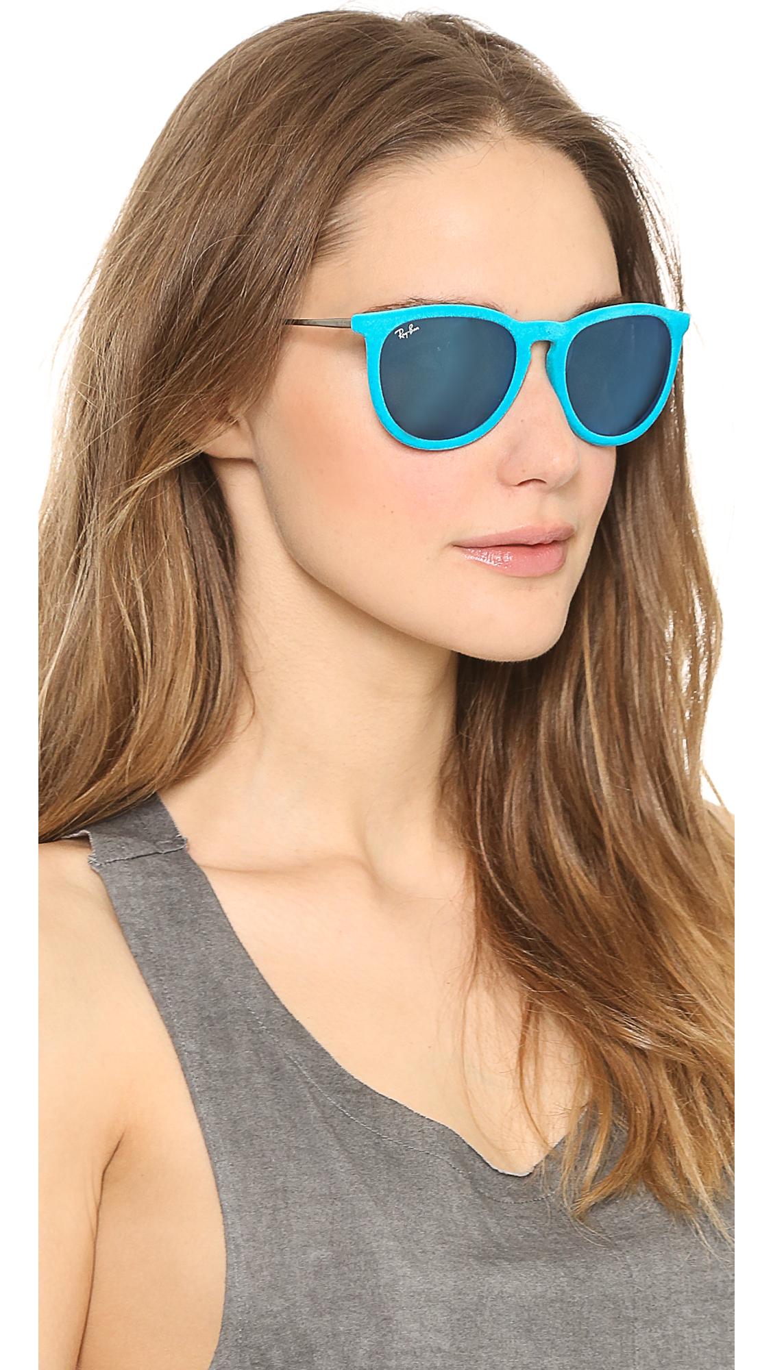Lyst Ray Ban Erika Velvet Sunglasses In Black