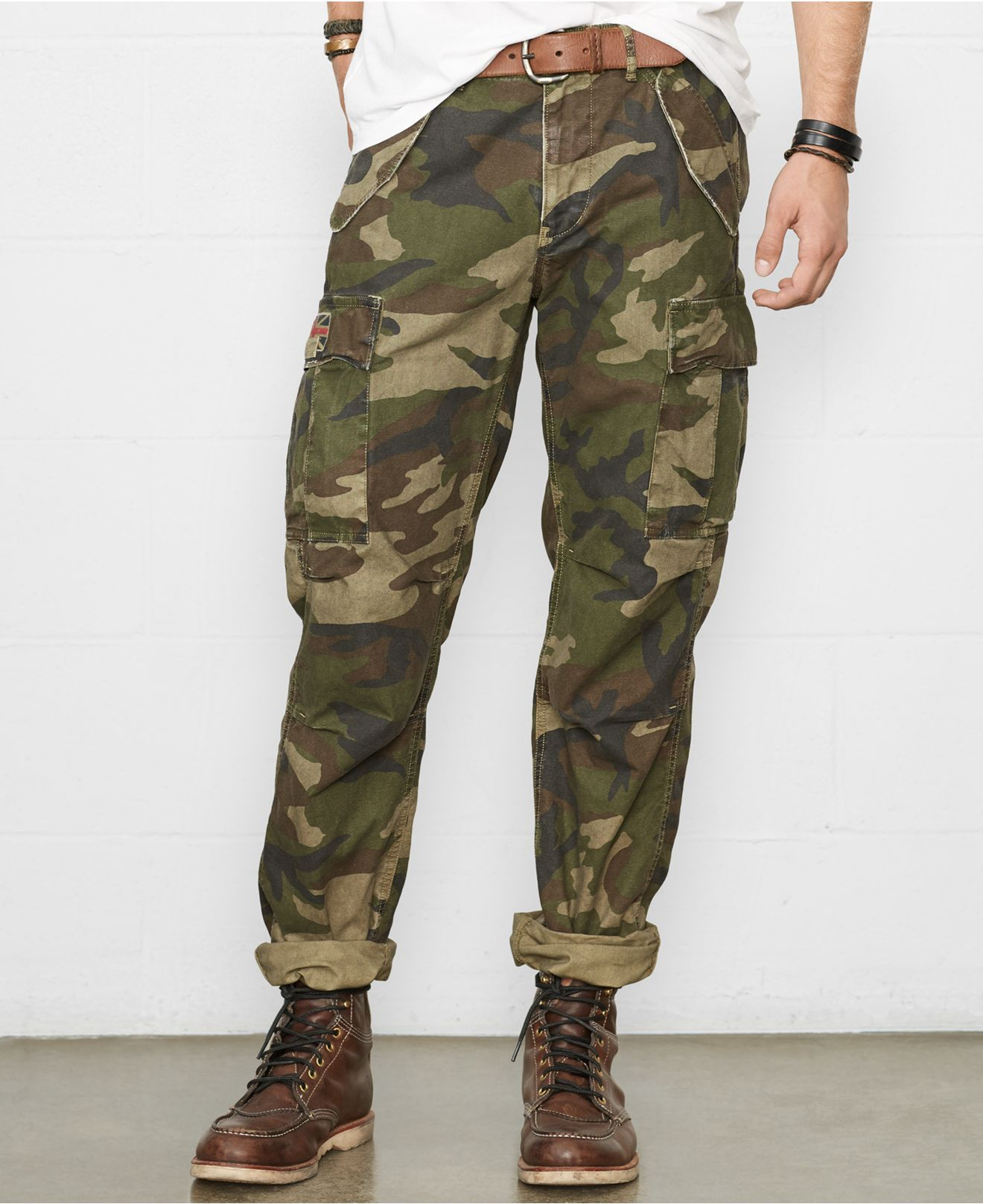 Denim & supply ralph lauren Camo Cargo Pants in Green for Men | Lyst