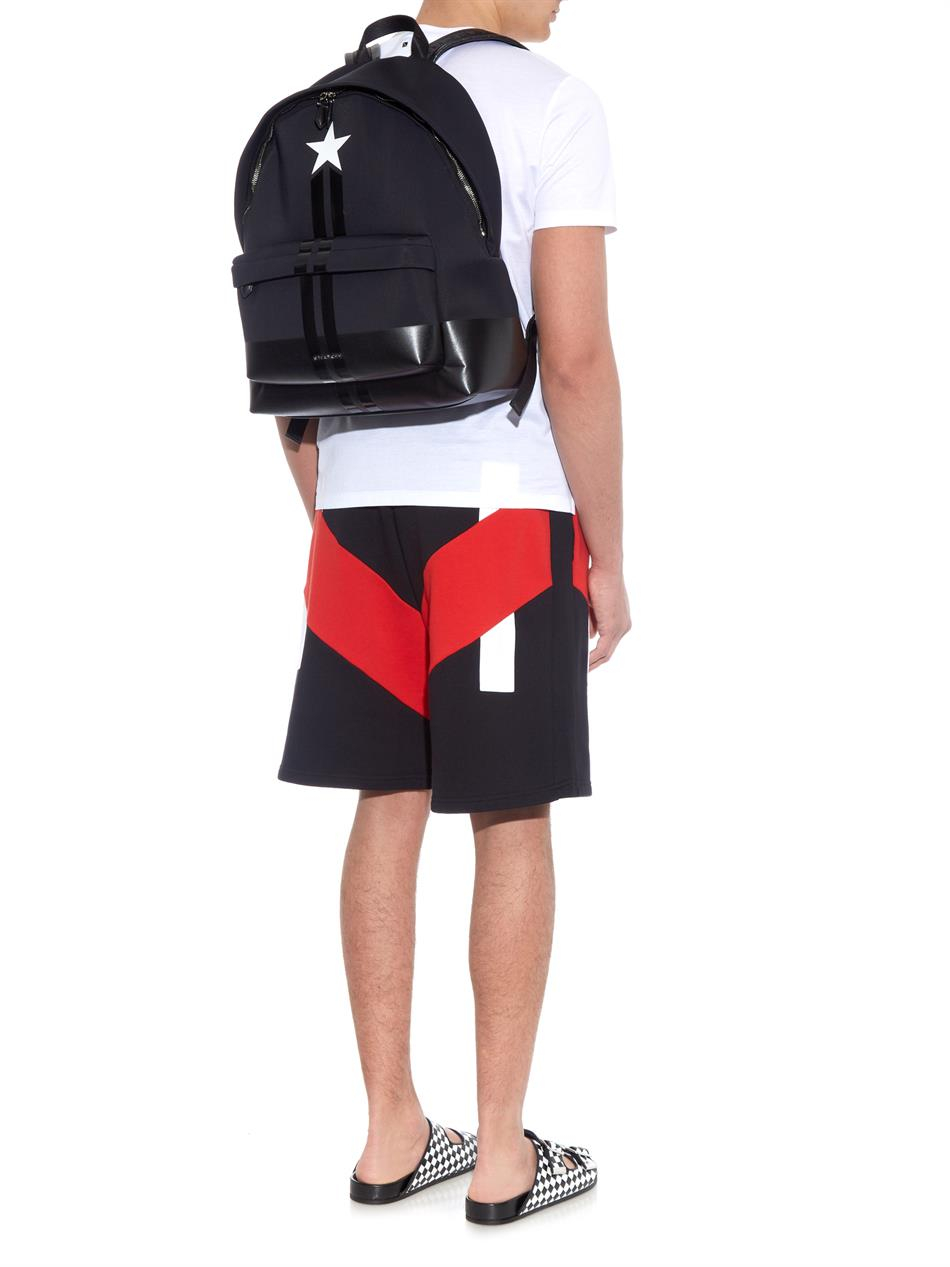 86e1b1b627 Givenchy Star And Stripes Neoprene Backpack in Black for Men - Lyst
