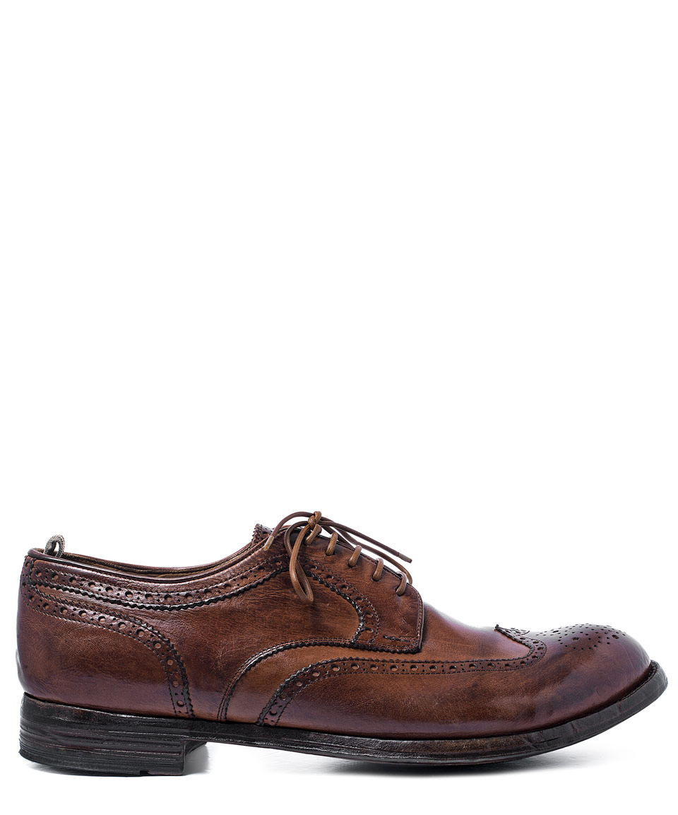 Leather Wingtip Shoes Brown