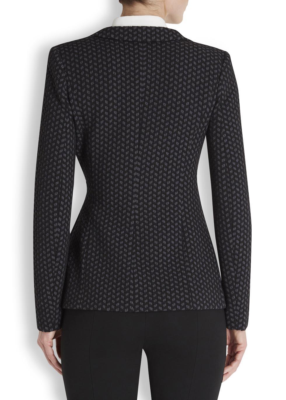 Armani Bow Detail Blazer In Black Lyst