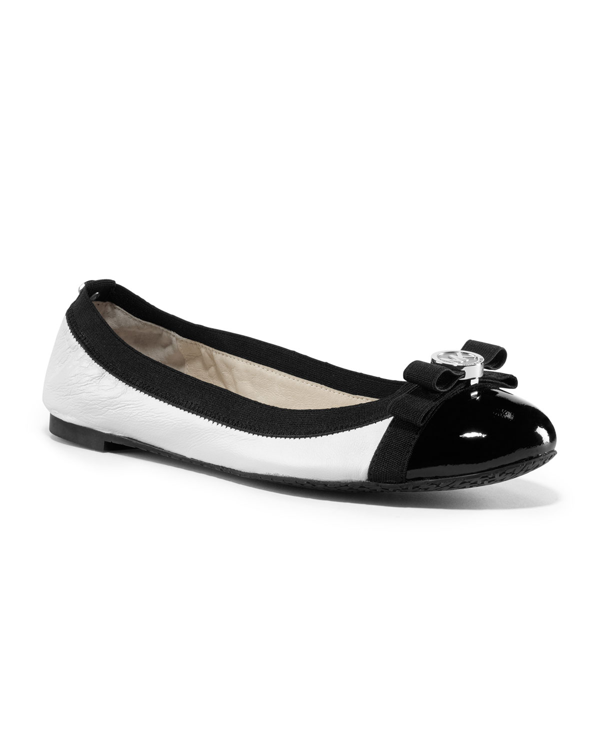 Lyst Michael Kors Michael Dixie Captoe Ballet Flat In Black