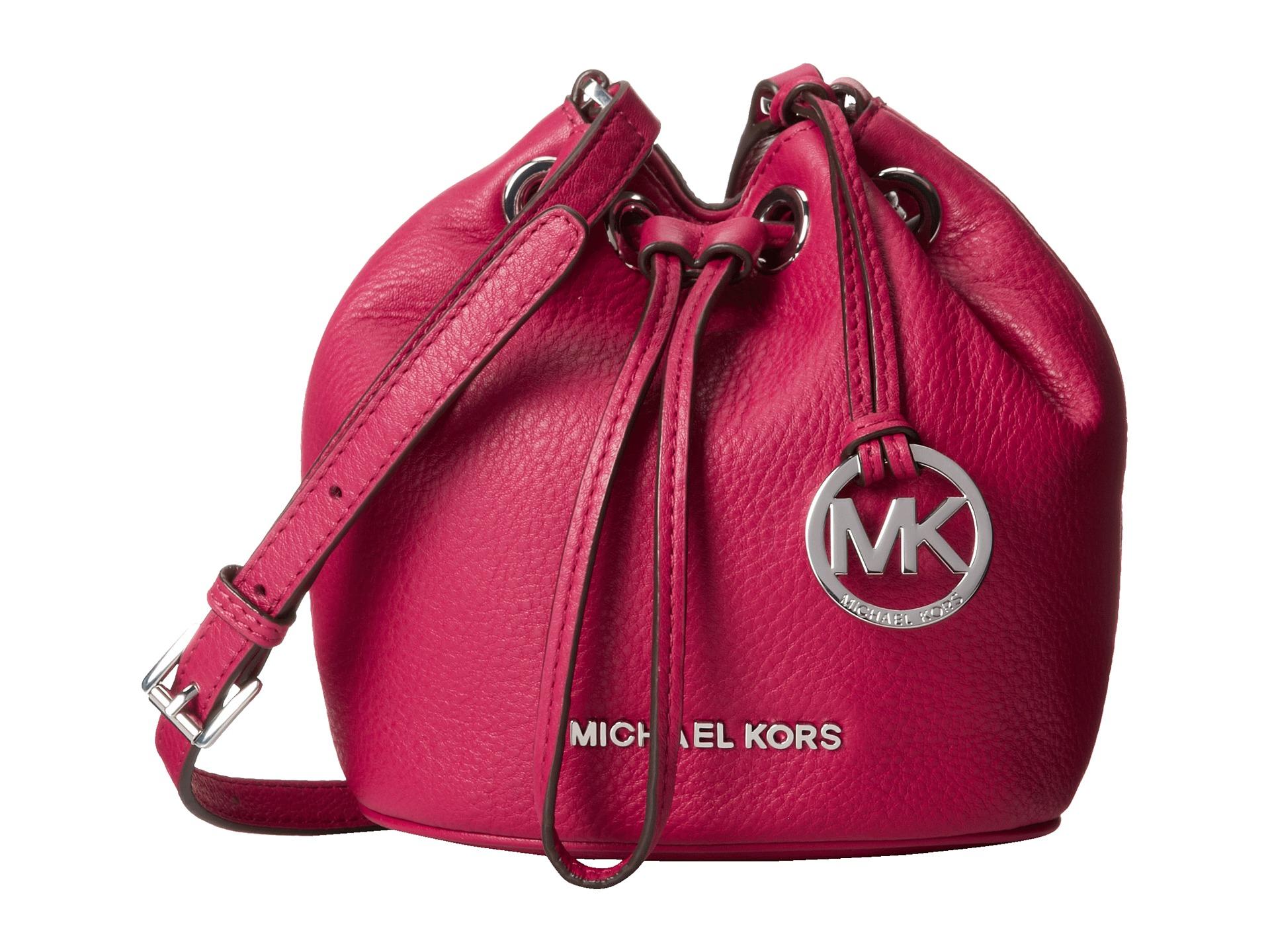 a23dfe3dcc10 ... bucket bag in ecdd7 fee19; good lyst michael michael kors jules  drawstring crossbody in pink 7ccb1 37ffd