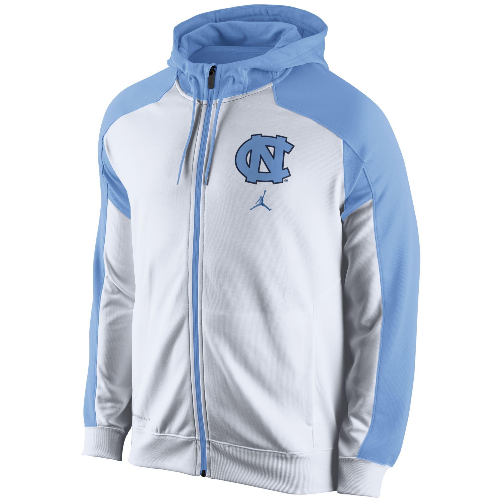 32242cebeeb4d7 Nike Mens North Carolina Tar Heels Thermafit Fullzip Hoodie in Blue ...