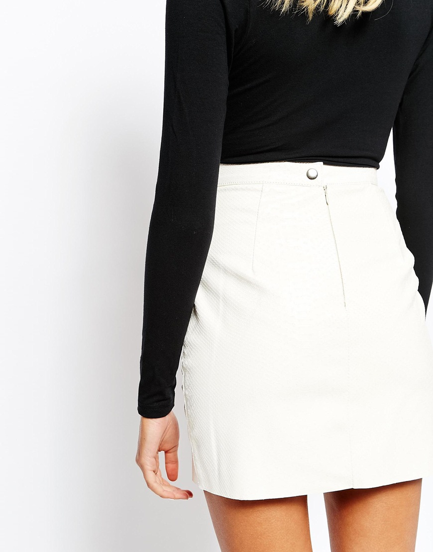 Lyst American Apparel Snake Embossed Leather Mini Skirt