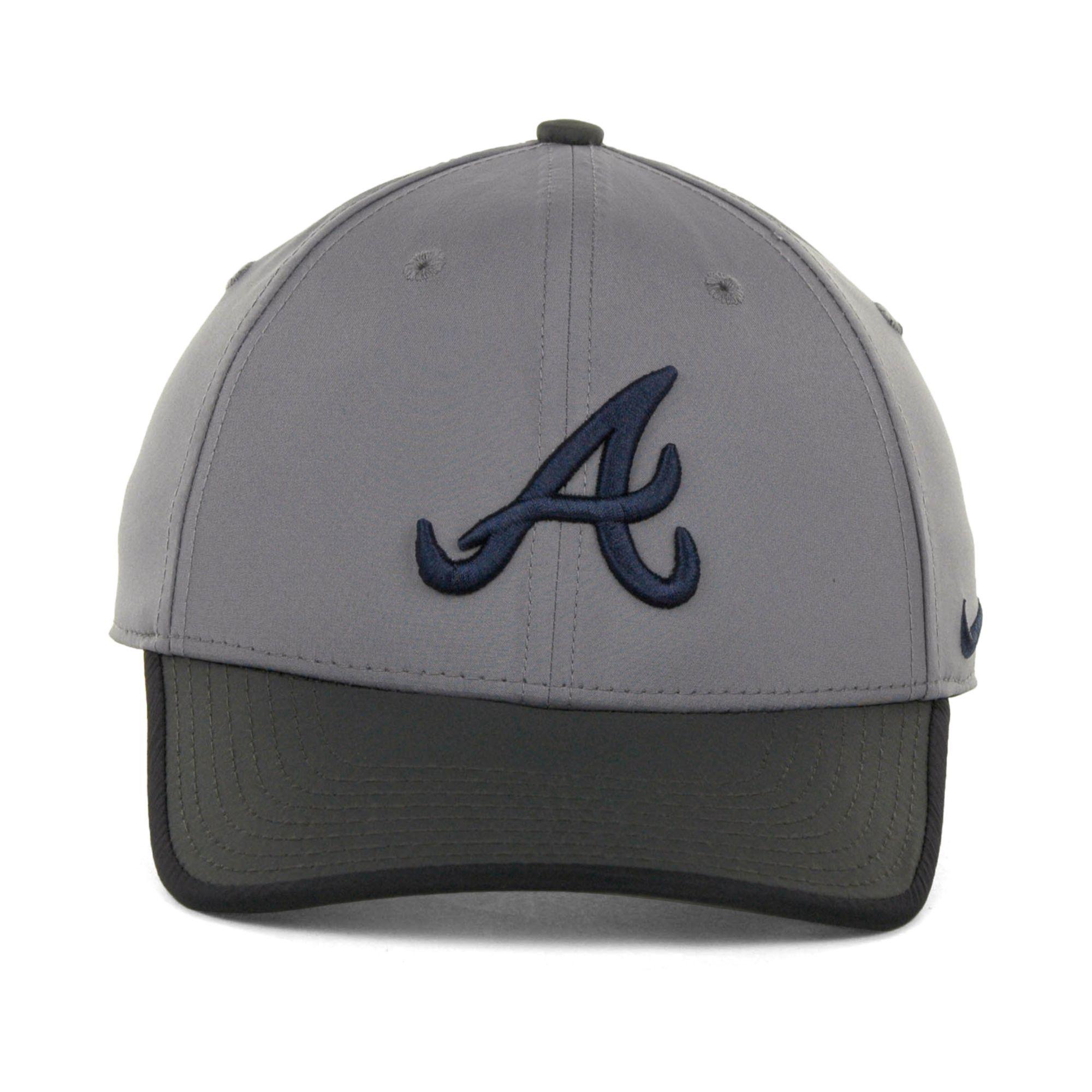 Lyst - Nike Atlanta Braves L91 Featherlight Adjustable Cap in Gray ... da6a7b47636