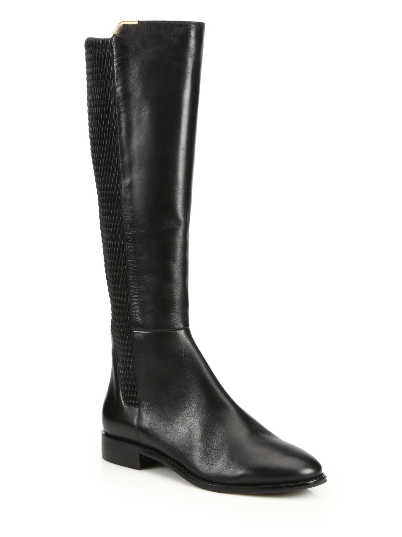 cole haan rockland leather knee high boots in black lyst