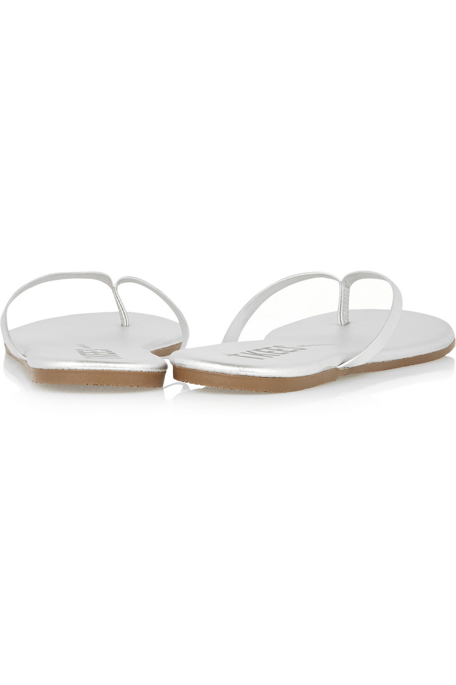 8d2d6ff0c02b TKEES Lily Metallic Leather Flip Flops in Metallic - Lyst