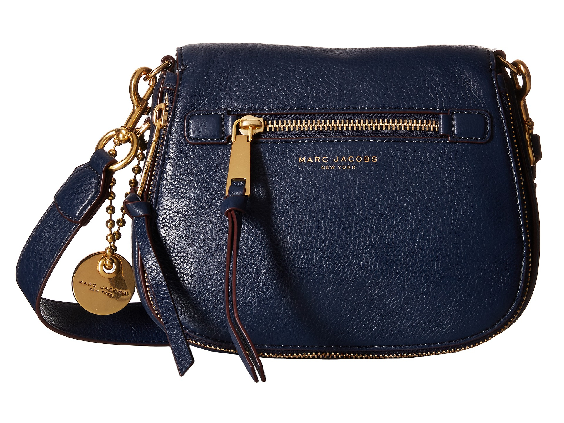 marc jacobs recruit small saddle bag in blue lyst. Black Bedroom Furniture Sets. Home Design Ideas