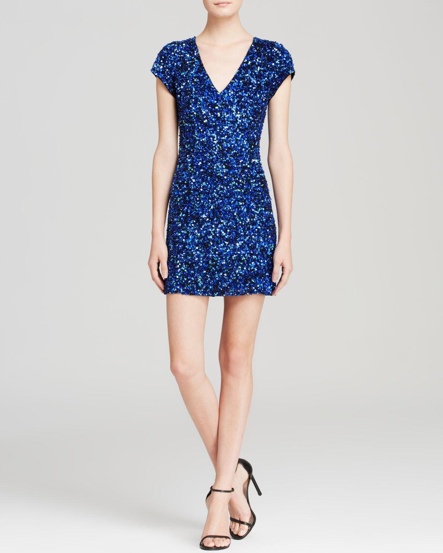 e26f2676c1c Lyst - Parker Black Dress - Serena Sequin in Blue
