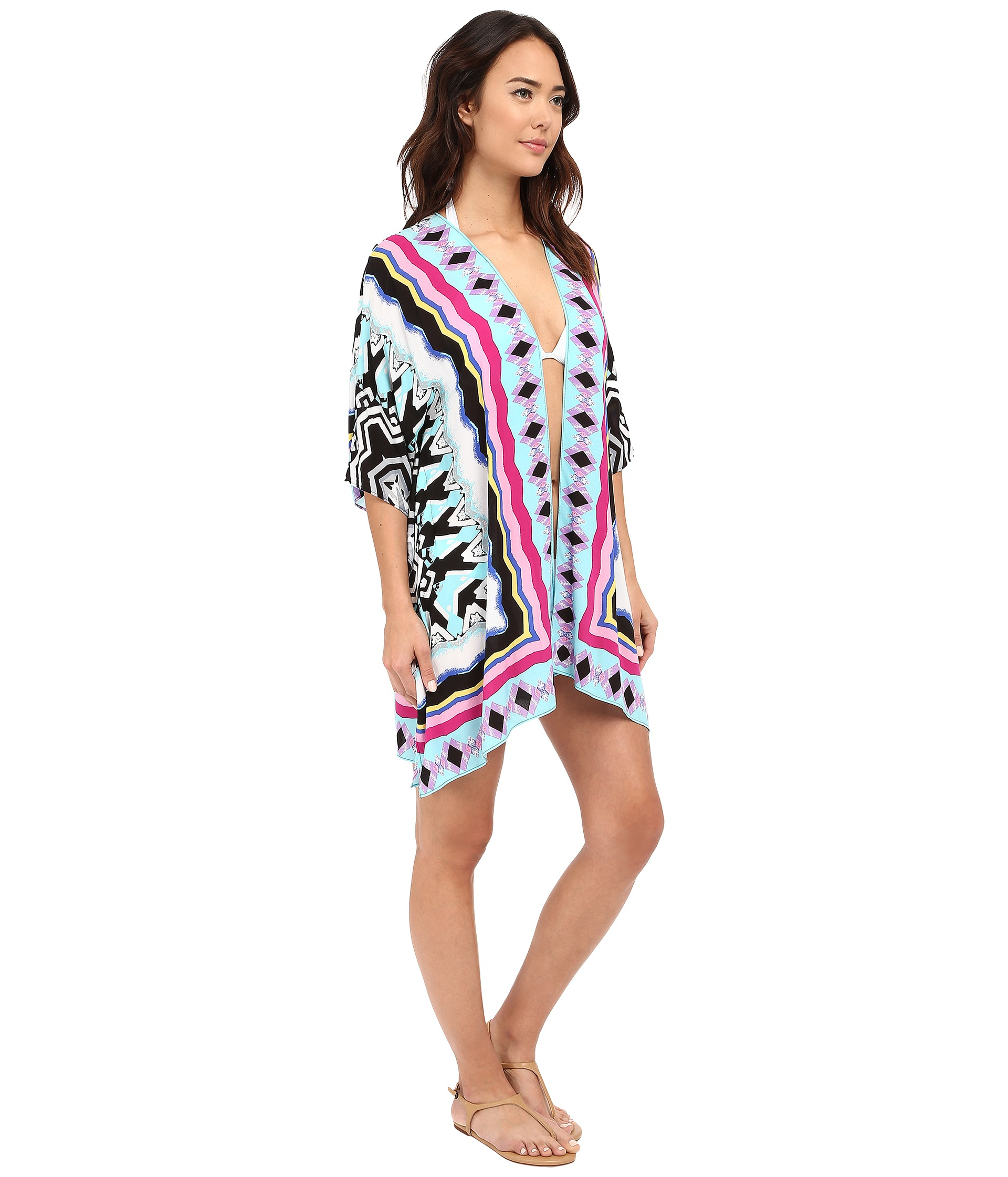 6fb92c47bae76 Lyst - La Blanca Center Focus Kimono Cover-up in Blue