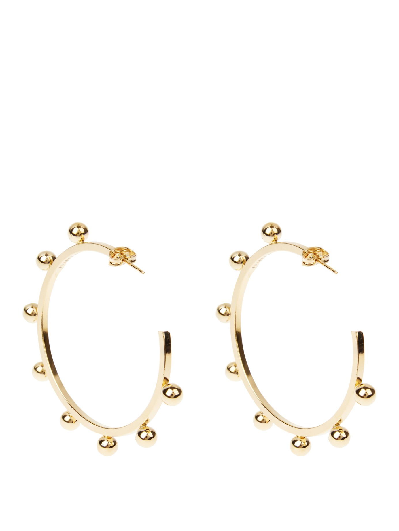 loop eye hoop studs chain in stud featuring earring catching the pin set and