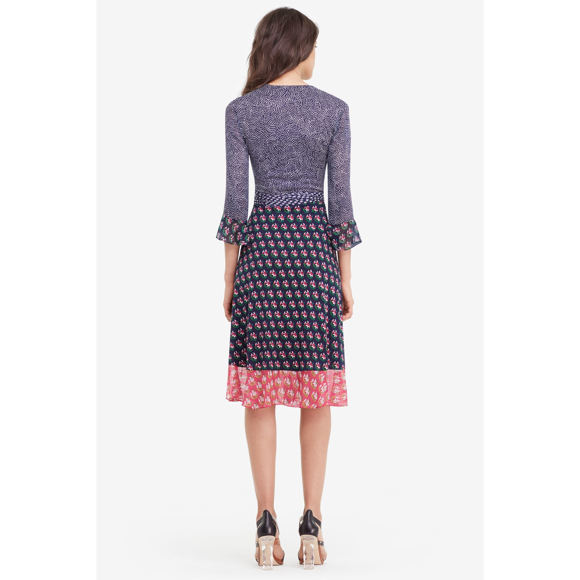 45fdf26a703b Diane von Furstenberg Nieves Silk and Chiffon Wrap Dress - Lyst
