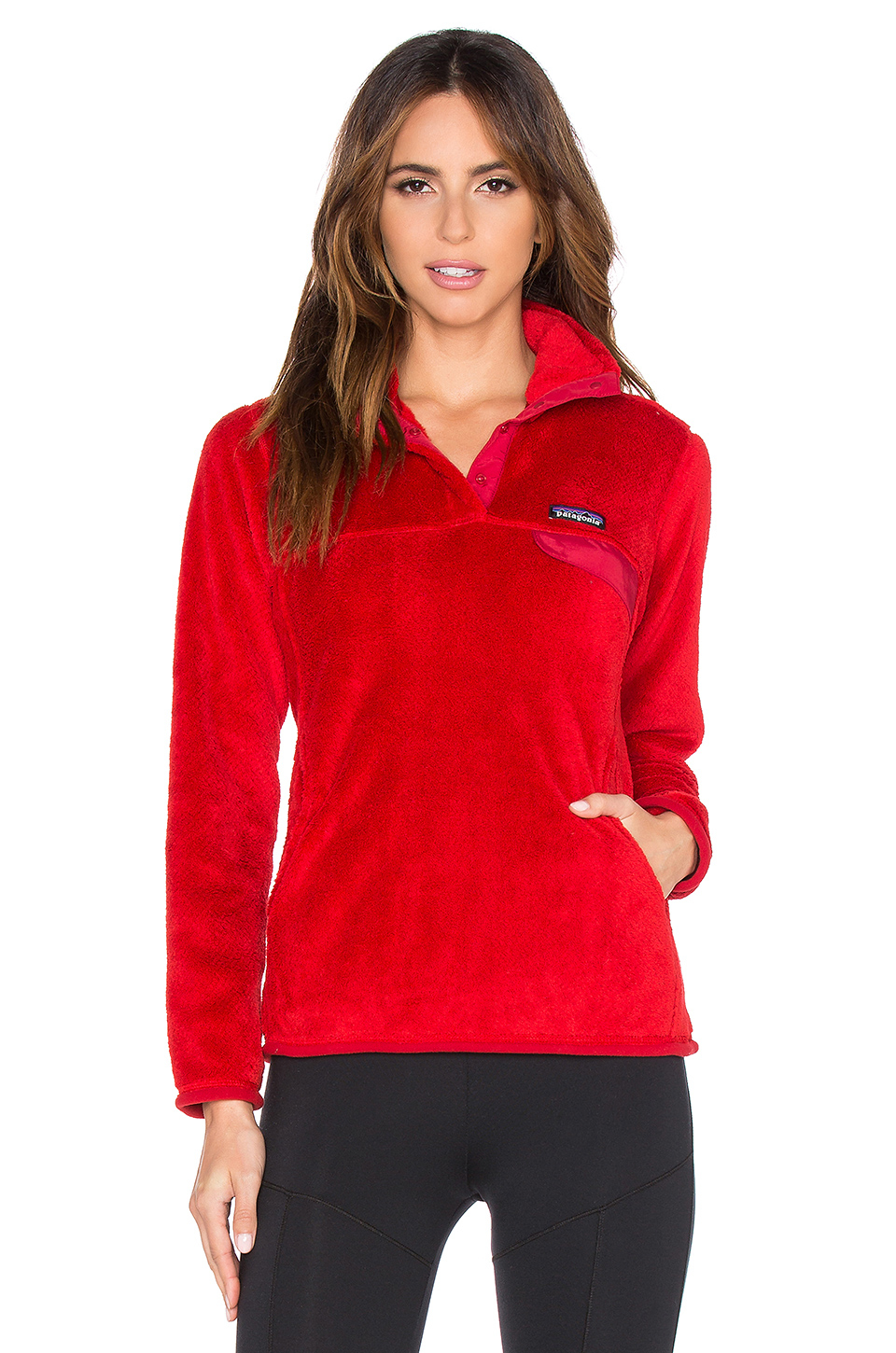 Patagonia Re Tool Snap T Pullover in Red | Lyst