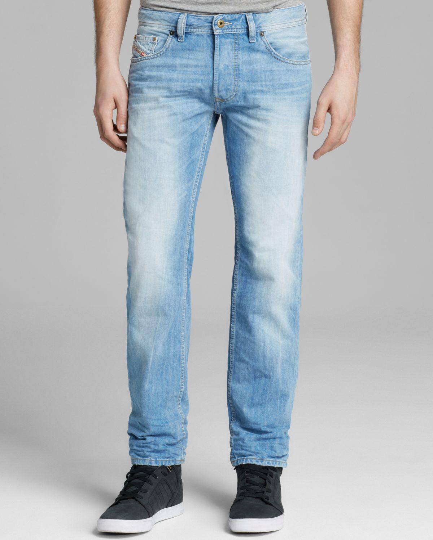 c40927c7 DIESEL Jeans Larkee Straight Fit in Denim in Blue for Men - Lyst