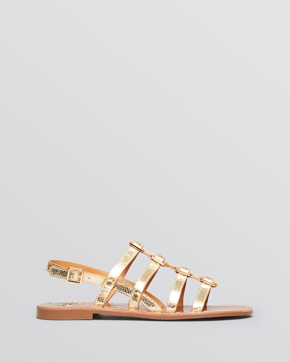 83a852eab Lyst - Tory Burch Flat Gladiator Sandals Reggie in Metallic