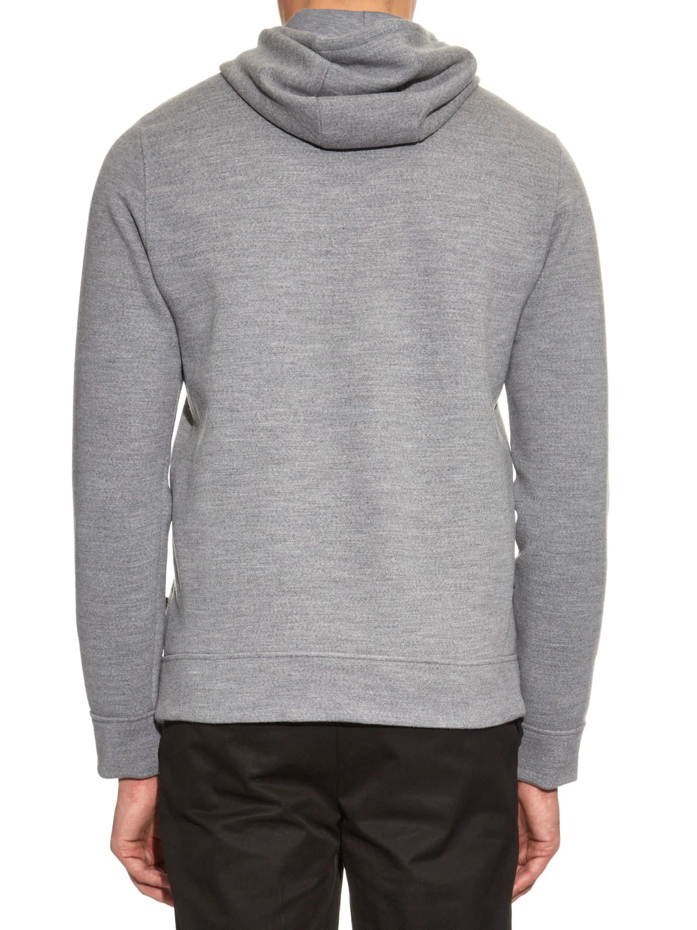Fendi Monster Wool Hooded Sweater in Gray for Men | Lyst