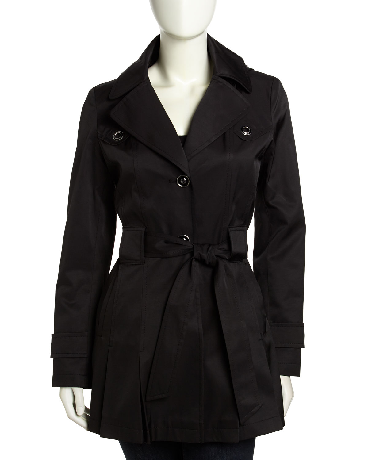 black trench coat with hood - photo #35