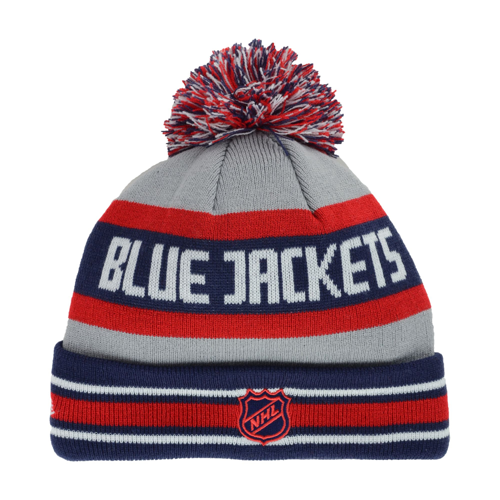 9e08e722a KTZ Columbus Blue Jackets Jake Pom Knit Hat in Gray for Men - Lyst
