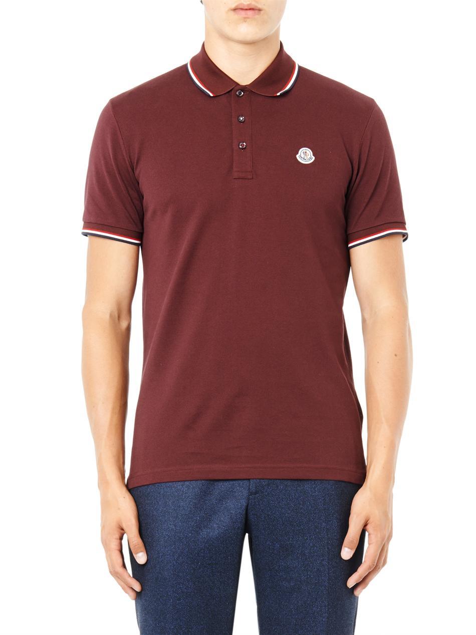 red moncler shirt