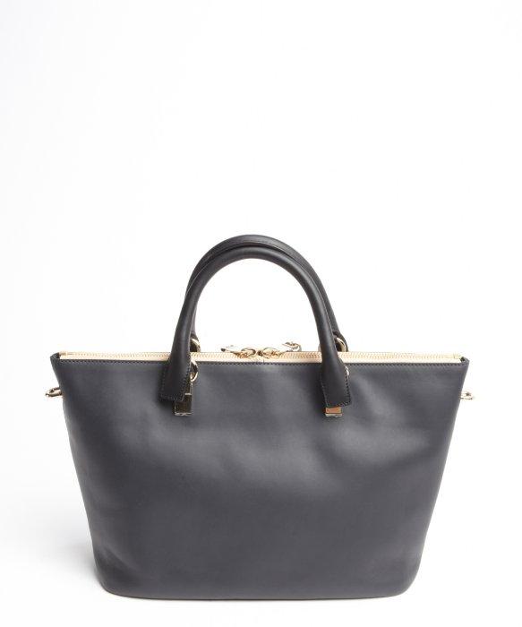 Chlo�� Marshmallow Grey Leather \u0026#39;Baylee\u0026#39; Convertible Tote in Gray ...