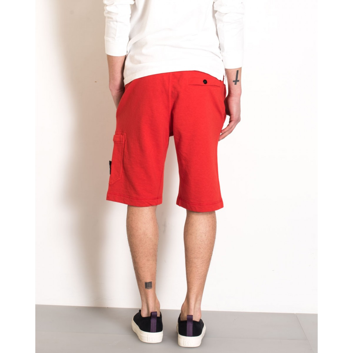Stone island Cotton Jogging Shorts in Red for Men - Lyst