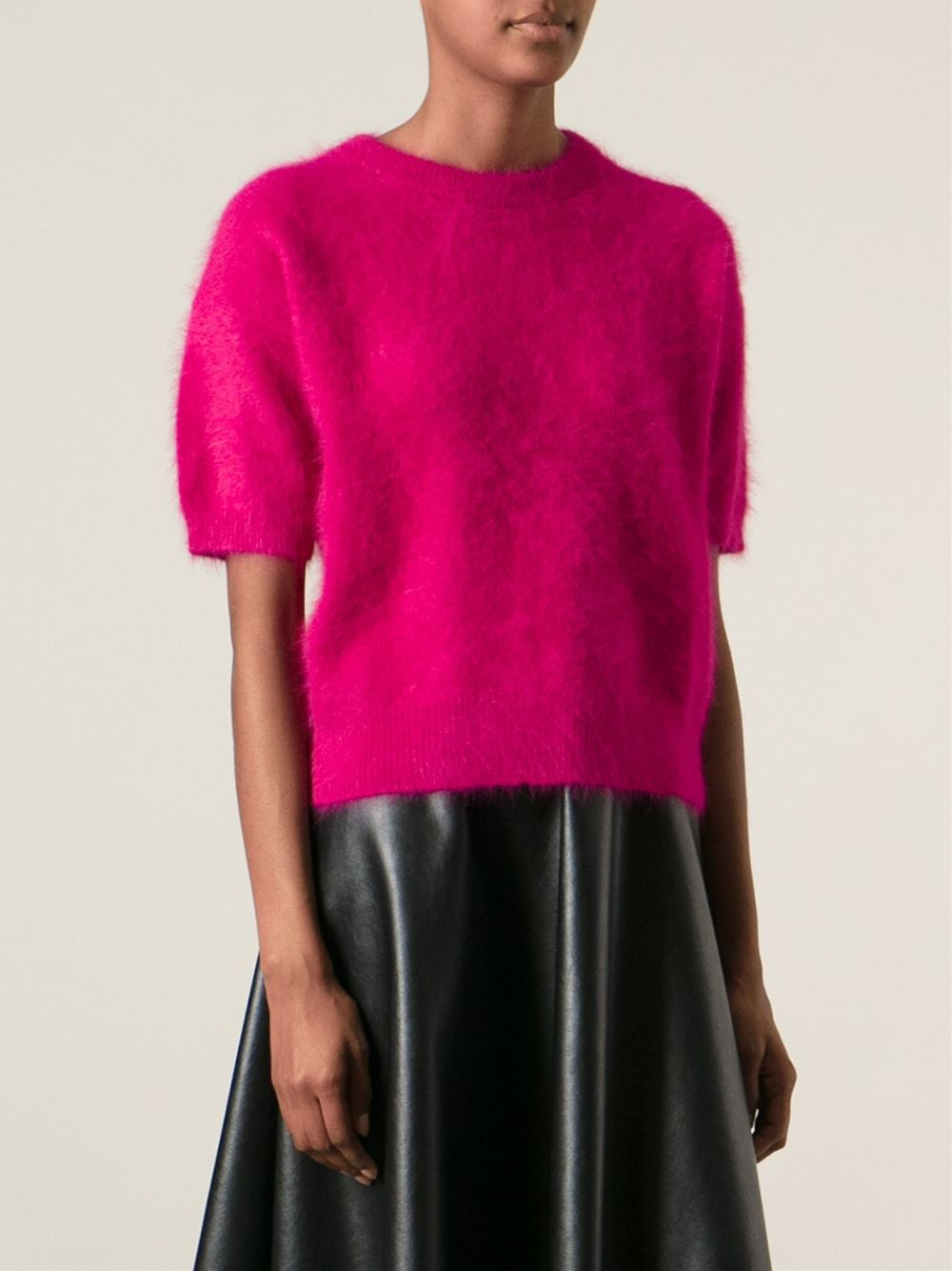 Michael michael kors Angora Sweater in Pink | Lyst