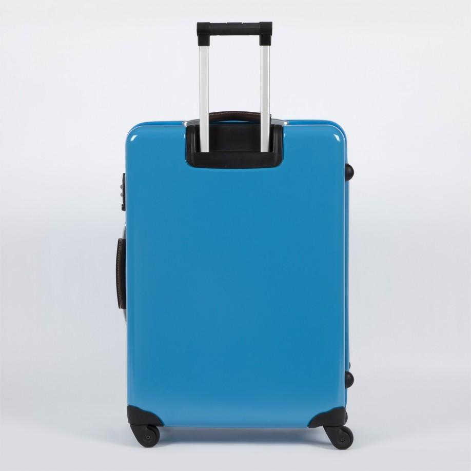Paul Smith Medium Sky Blue Steamer Trolley Suitcase In